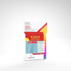 Gamegenic - PRIME Catan-Sized Sleeves 56 x 82 mm - Clear