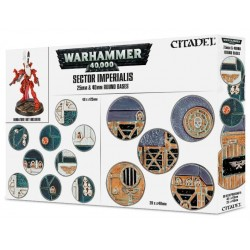 66-92 Sector Imperialis 25mm e 40mm Round Bases
