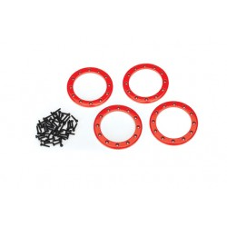 Beadlock rings, red (2.2) (aluminum) (4)/ 2x10 CS (48)