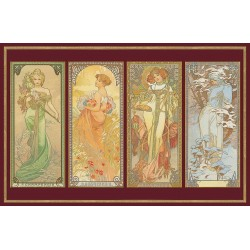 Puzzle - Mucha The Times of the Day Metallic (1000pc)