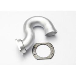 Header, exhaust (tubular aluminum, silver-anodized)