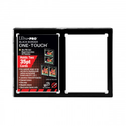 UV 2-Card Black Border ONE-TOUCH Magnetic Holder