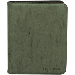 UP - Zippered Suede 4-Pocket Premium PRO-Binder - Emerald