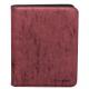 UP - Zippered Suede 9-Pocket Premium PRO-Binder - Ruby