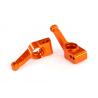Carriers, stub axle (orange-anod, 6061-T6 alum, rear) (2)