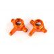 Steering blocks, 6061-T6 alum (orange-anod) Left-Right