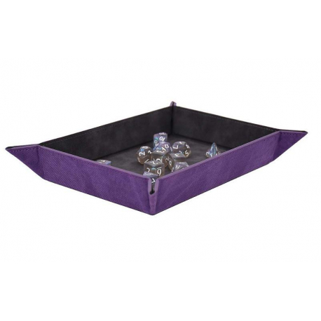 Foldable Dice Rolling Tray Amethyst