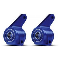 Steering blocks, aluminum (blue-anodized)