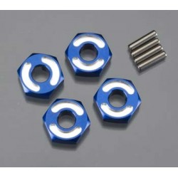 Hexagonos de roda, hex, 6061-T6 alumÝnio (blue) (4)