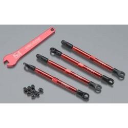 Toe links, aluminio (Vermelho-anodizado) (4)