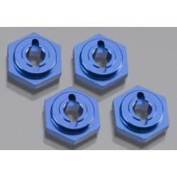 Hexagonos de roda, hex, aluminio (4) (azul-anodizad