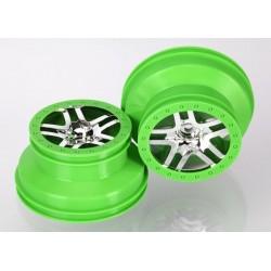 Wheels SCT Split-Spoke Chrome Green Beadlock