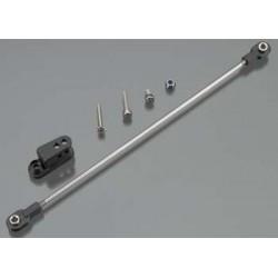 Rudder pushrod, assembled/ servo horn/ 3x18mm BCS (sta
